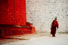Bouddhisme tibétain Lhasa Tibet de temple de Jokhang images stock