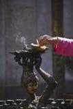 Bouddhist ritual, nepali temple, Kathmandu, Nepal Royalty Free Stock Photo