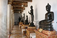 Bouddhiste, temple, touriste, Bangkok, Wat image libre de droits