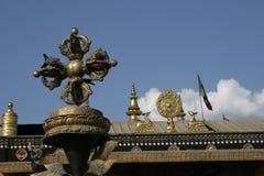 bouddhnath stupa 库存图片