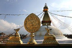 Bouddhnath stupa Royalty Free Stock Photography