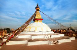 Boudha or Bodhnath stupa - Kathmandu - Nepal Royalty Free Stock Photos
