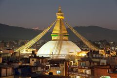 Boudha or Bodhnath stupa - Kathmandu - Nepal Royalty Free Stock Photo