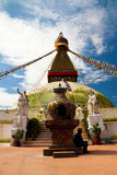 Boudha Stupa in Kathmandu Royalty Free Stock Photos