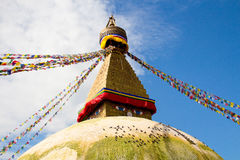 Boudha Stupa in Kathmandu Royalty Free Stock Photography