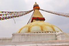 Boudhahath Stupa, Kathmandu, Nepal fotografie stock libere da diritti