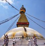 Boudhahath Stupa, Kathmandu, Nepal Fotografia de Stock