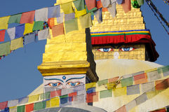 Boudhahath Stupa, Kathmandu, Nepal Fotografie Stock