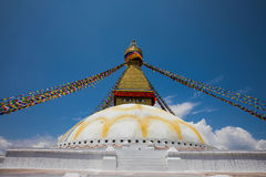 Boudhahath Stupa, Katmandu, Nepal royalty-vrije stock foto