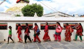 Boudhananth à Katmandou, Népal photographie stock