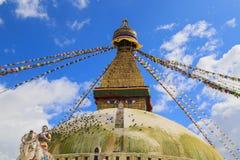 Boudhananth i Katmandu, Nepal Arkivbild