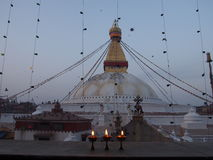 Boudhanat de Stupa Imagen de archivo libre de regalías