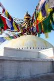 Boudhanath stupa在加德满都 免版税库存图片