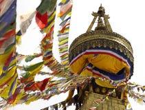 Boudhanath佛教Stupa -加德满都-尼泊尔 免版税库存照片