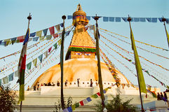 boudhanath加德满都尼泊尔寺庙 库存图片