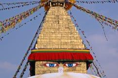 boudhanath加德满都stupa 库存照片
