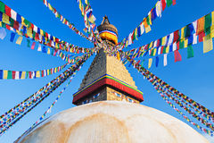 boudhanath加德满都stupa 免版税图库摄影