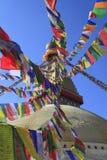 Boudhanath在加德满都,尼泊尔 库存照片