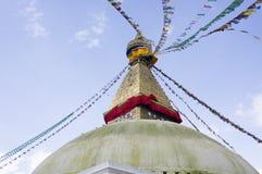 Boudhanath在尼泊尔 库存图片