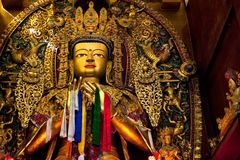 Boudhanath寺庙菩萨在加德满都谷 库存照片