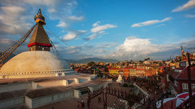 Boudhanath寺庙,加德满都,尼泊尔 库存照片