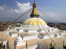 Boudhanath буддийское Stupa - Kathmandu - Непал Стоковые Изображения RF