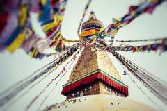 Boudhanath буддийское stupa в Катманду, Непале Стоковые Фотографии RF