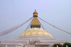 Boudhanath (глаза Будды) в Катманду Стоковое Изображение