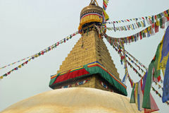 Boudhanath (глаза Будды) в Катманду Стоковое фото RF