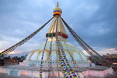 Boudhanath, Boudnath, Boudha Stupa in Kathmandu, Nepal Stock Photos