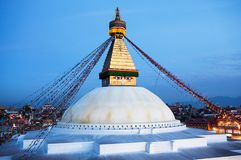 Boudhanath (Boudnath) Stupa in the Kathmandu Stock Photo