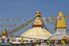 Boudhanath buddhist stupa in Kathmandu capital of Nepal Stock Photography