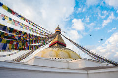 Boudhanath is a buddhist stupa in Kathmandu, Nepal Royalty Free Stock Photo