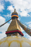 Boudhanath is a buddhist stupa in Kathmandu, Nepal Stock Photography