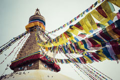 Boudhanath is a buddhist stupa in Kathmandu, Nepal. Stock Photography