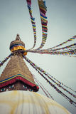 Boudhanath is a buddhist stupa in Kathmandu, Nepal. Stock Photo