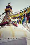 Boudhanath is a buddhist stupa in Kathmandu, Nepal. Stock Photos