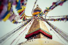 Boudhanath is a buddhist stupa in Kathmandu, Nepal. Royalty Free Stock Photos
