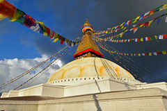 Boudhanath Buddhist stupa. Kathmandu, Nepal Stock Photo