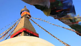 Boudhanath Buddhist Temple, Nepal stock video footage