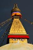 Boudhanath buddiststupa. Katmandu Nepal Royaltyfri Fotografi