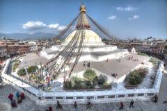 Boudhanath, jeden holiest buddystów miejsca w Nepal obrazy stock