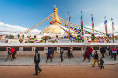 boudhanath Katmandu stupa Zdjęcia Stock