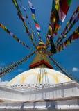 Boudhanath Stupa在加德满都谷,尼泊尔 库存图片