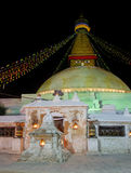 Boudhanath stupa在加德满都,尼泊尔 库存图片