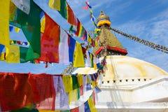 Boudhanath stupa在加德满都 免版税库存照片