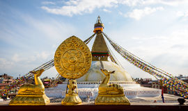 Boudhanath Stupa à Katmandou Photo stock