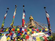 Boudhanath Stupa à Katmandou Images libres de droits