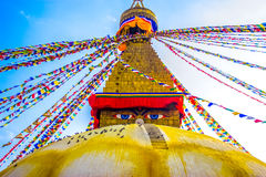 Boudhanath Stupa, Κατμαντού, Νεπάλ Στοκ εικόνα με δικαίωμα ελεύθερης χρήσης