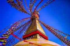 Boudhanath Stupa, Κατμαντού, Νεπάλ Στοκ Φωτογραφίες